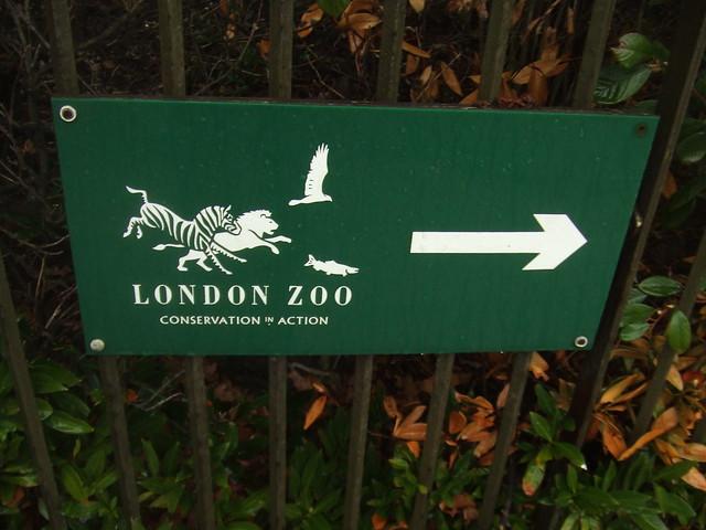 London Zoo sign