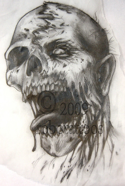 3775853541 f1ab99d133 z jpg zz 1Zombie Face Drawing