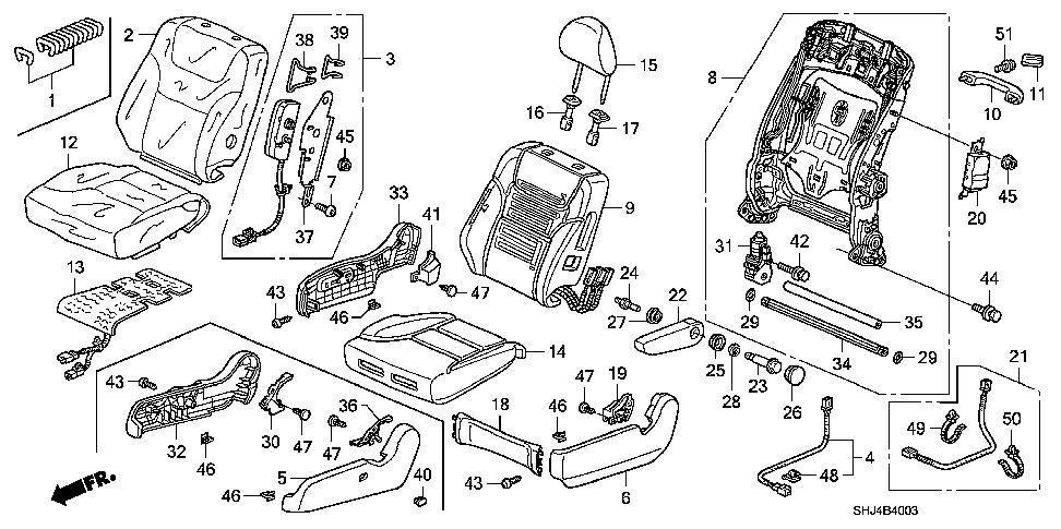 honda accord rear seat diagram