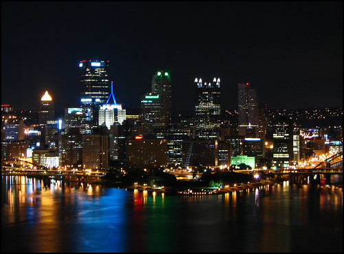 city longexposure skyline night canon buildings dark landscape downtown pittsburgh cityscape clear s2is canonpowershots2is threerivers thepoint westernpennsylvania g20 westernpa g20summit