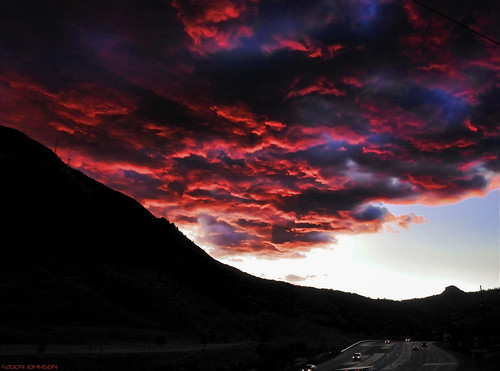 light red sky evening nikon colorado under durango d300