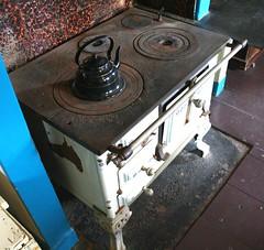 gas stove, kitchen stove, iron,