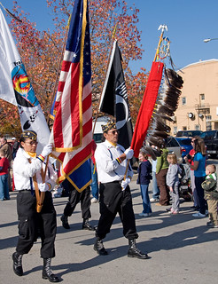 Native American Color Guard ~ Veterans Day Parade, Leavenworth, Kansas