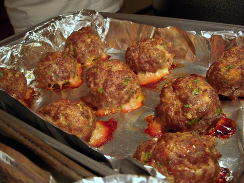Venison and pork sausage meatballs