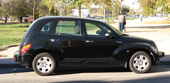 automobile, automotive exterior, wheel, vehicle, chrysler pt cruiser, city car, compact car, chrysler, land vehicle,