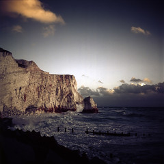 Seven Sisters, Seaford in color infrared film