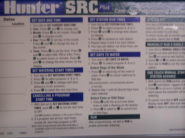 hunter timer instructions for sprinkler system flickr hunter sprinkler system manual setting hunter sprinkler system manual run