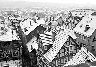 Snow on old Roofs