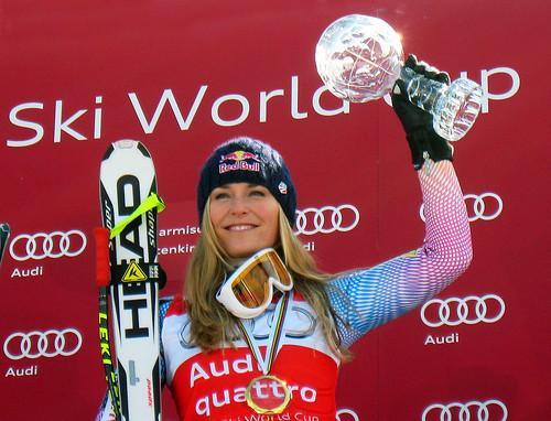 Vonn wins downhill title 2010