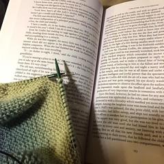 On Saturday night, we party. #theoldcuriosityshop, #phdlife, #knitting :books::tada: