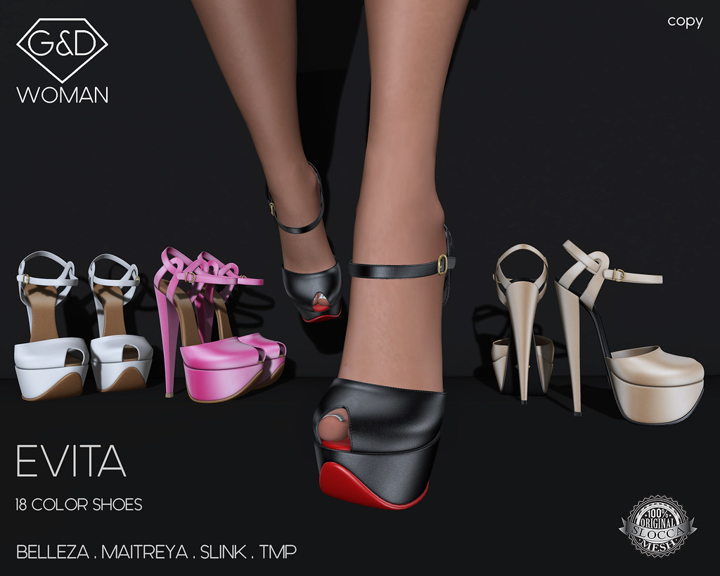 G&D Shoes Evita adv - SecondLifeHub.com