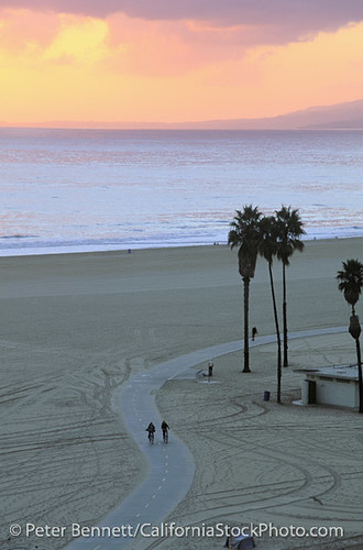 Santa Monica State Beach and Bicycle Path, Santa Monica, California (LA)