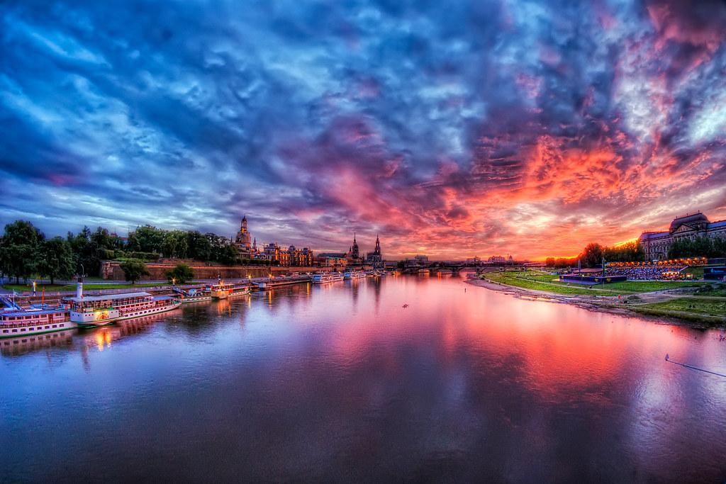 Dresden sunset by ill-padrino www.matthiashaker.com