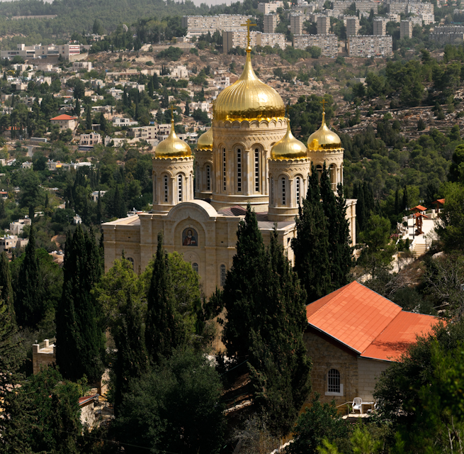 Church of the Gornensky russian orthodox convent in Ein Kerem near Jerusalem