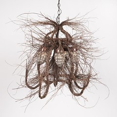 Wispy branch chandelier