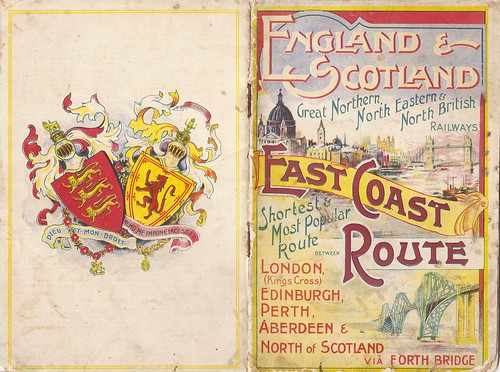 East Coast Route - railway guide to the London - Scotland route for the American market, c1900 by mikeyashworth
