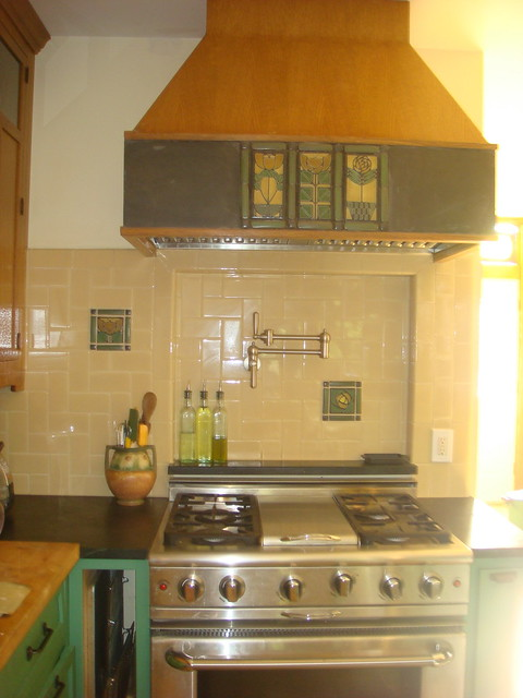 wood and tile hood