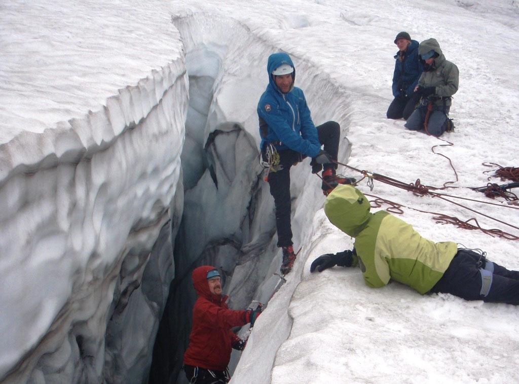 Glacier Travel On Mount Rainier Crevasse Rescue Course