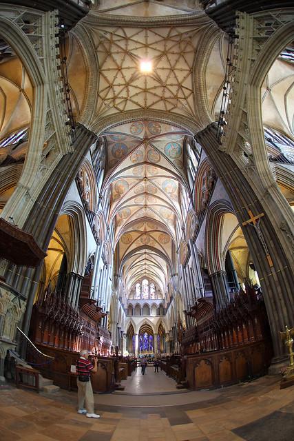 Salisbury Cathedral fisheye