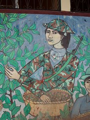 Wall paintings of the Revolution - Pinturas de la Revolución; Jinotega, Nicaragua