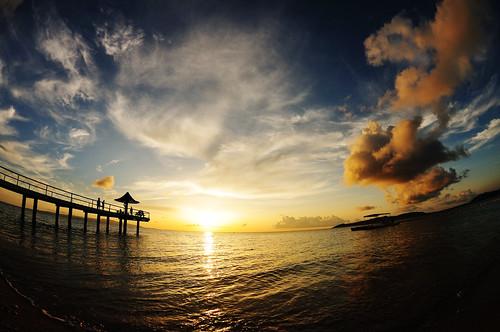 blue sunset summer sky orange cloud beach japan nikon 日本 okinawa 夏 雲 夕日 空 青 ishigaki オレンジ 石垣島 d300 ビーチ fusaki フサキ