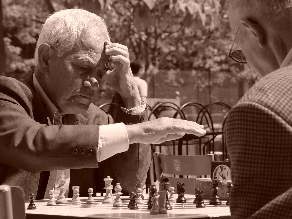 Chess in Luxembourg gardens