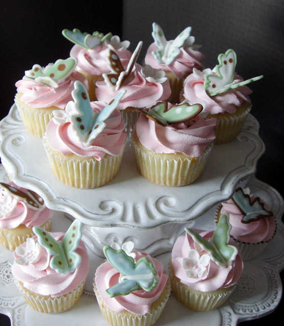 French Vanilla Butterfly Cupcakes Flickr - Photo Sharing!