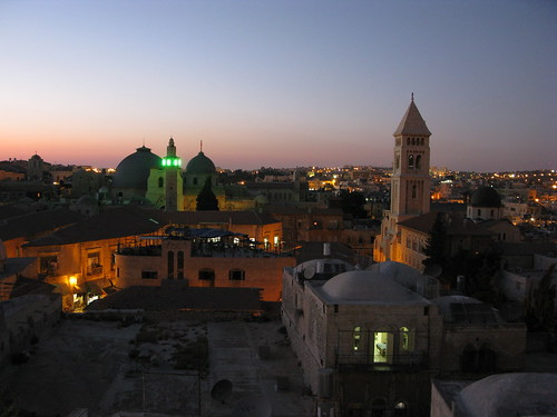 Jerusalem after sunset