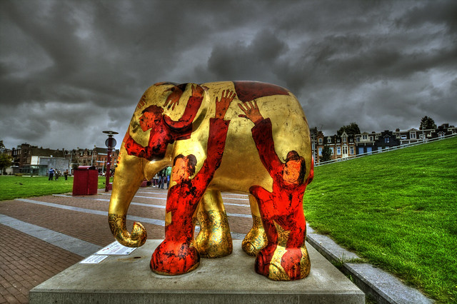 How to love an Elephant, Elephant Parade, Museumplein, Amsterdam - Netherlands