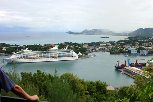 cruise harbor ship caribbean royalcaribbean stlucia adventureoftheseas castries