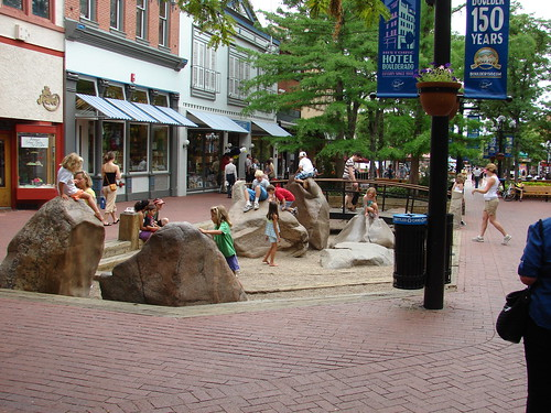 Pearl Street Mall - Rock Play Area