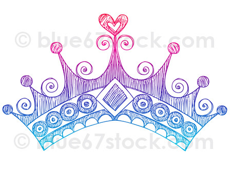 Hand Drawn Sketchy Princess Tiara Crown Doodle Drawing How To Draw A Princess Crown