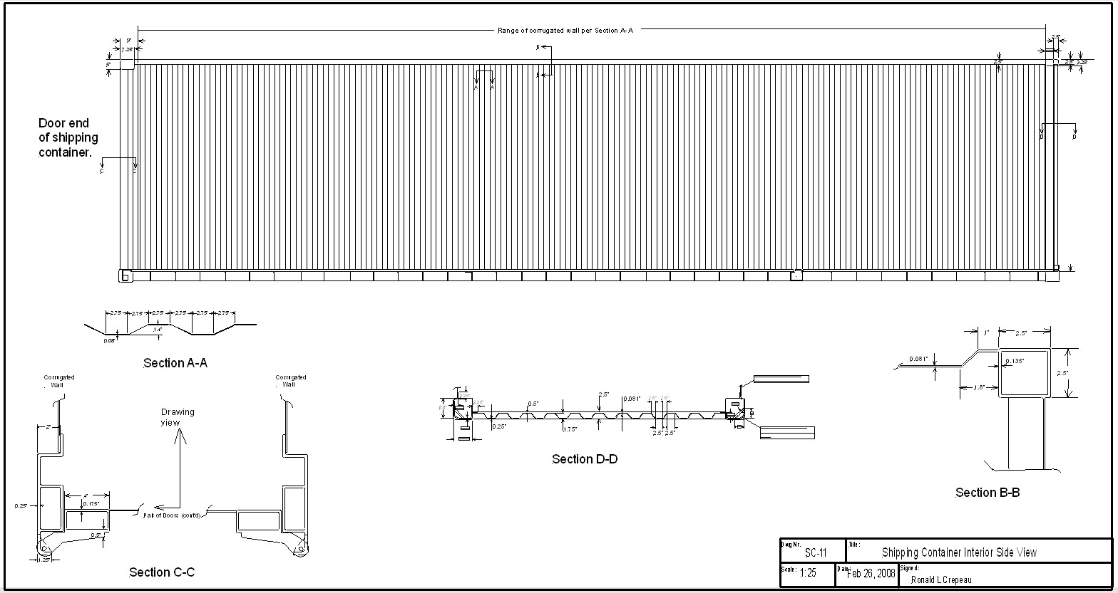 Pics Photos - Shipping Container Auto Cad Drawing
