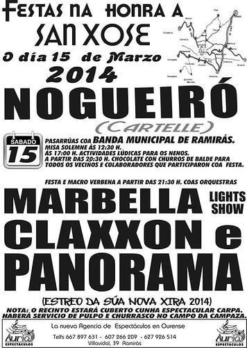 Cartelle 2014 - Festas de San Xosé en Nogueiró - cartel