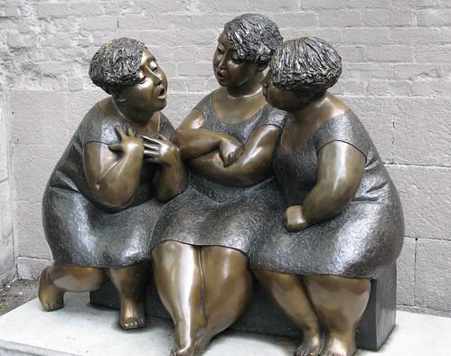 Conversation - three women talking