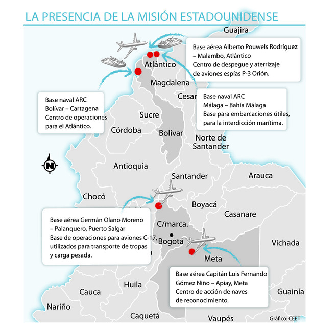 Proposed US military bases in Colombia | FOR-USA ...