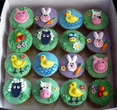 More Farm Animals Cupcakes