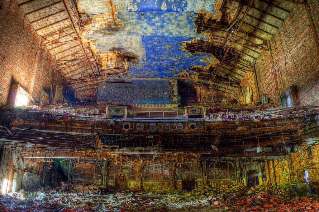 Abandoned Palace Theater, Gary, Indiana