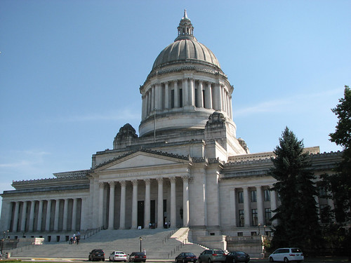 Washington State Capitol Legislative Building - front angle