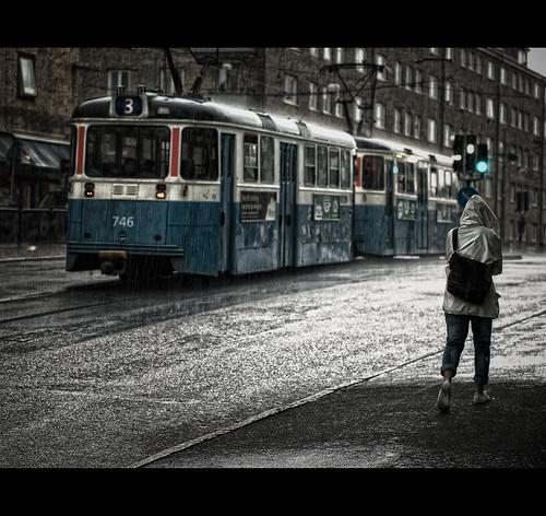 rain göteborg rainyday tram olympus explore shelter fp frontpage majorna explored stevecoleman summerinsweden specialpicture e410 olympuse410 masterpiecesofphotography olympusomgzuikoautos50mmf14 itsnodifferentthananyotherrainyday