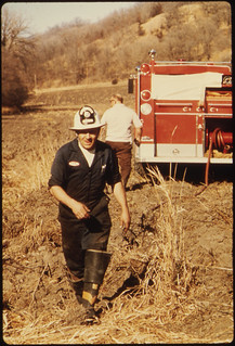 """Wallace """"Whitey"""" Wolf Is a Lieutenant in the Volunteer Fire Department ..., 10/1974"""