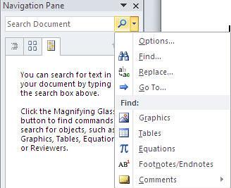Microsoft Word 2010, New Navigation Menu