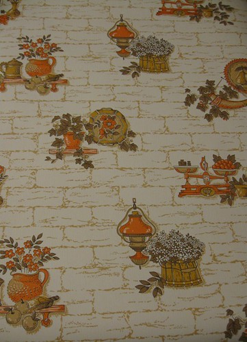 Vintage Country Kitchen Wallpaper