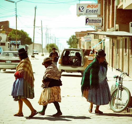 Paysanes à Uyuni, Bolivie