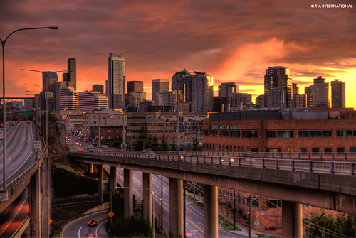 seattle city autumn sunset urban sunlight cars skyline buildings tia concrete daylight washington high highway shiny downtown december cityscape glare shine dynamic metro cloudy dusk overpass overcast pacificnorthwest metropolis pugetsound interstate autos roads elevation avenue washingtonstate citycenter range exchange emeraldcity citycentre hdr highdynamicrange height closure interstate5 glisten fredhutchinson lakeviewboulevard eastlakeavenue skyrscrapers tosinarasi tiascapes ©tiainternationalphotography