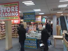Borders Closing Down Sale Bookshop Closing Down Sale