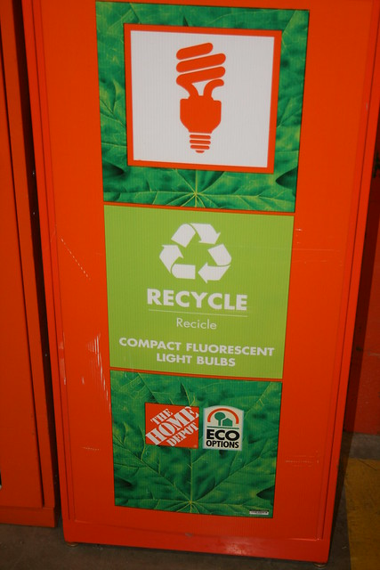 Home depot cfl recycling bin flickr photo sharing - Home depot recycling containers ...