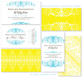 Katie Stoops, Business Cards, Letterpress Proofs