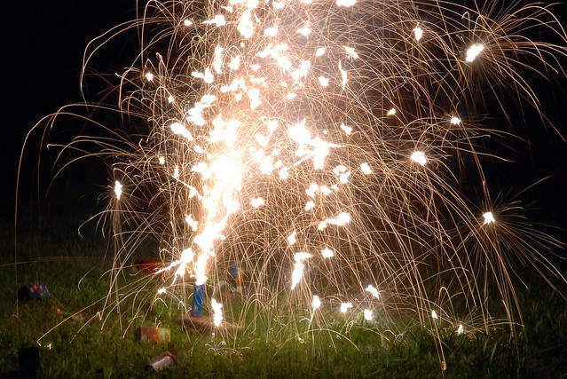 Backyard Fireworks : black cat  backyard fireworks display  By mowabby  Flickr  Photo