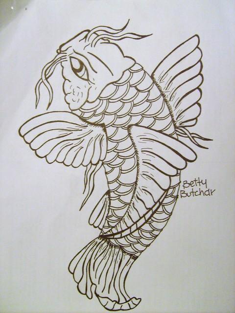 Koi outline flickr photo sharing for Koi fish outline